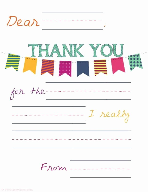 Free Printable Note Cards Template New Free Printable Thank You Notes for Kids