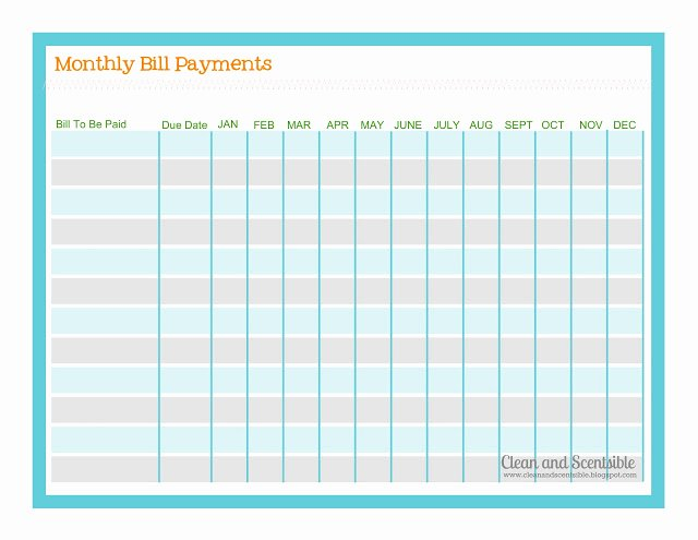 Free Printable Payment Log Inspirational How to organize Paperwork and Bills Clean and Scentsible