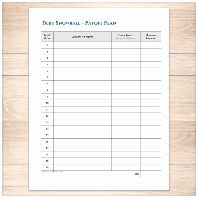 Free Printable Payment Log Unique Debt Snowball Sheet Debt Payoff Plan and Bill Payment