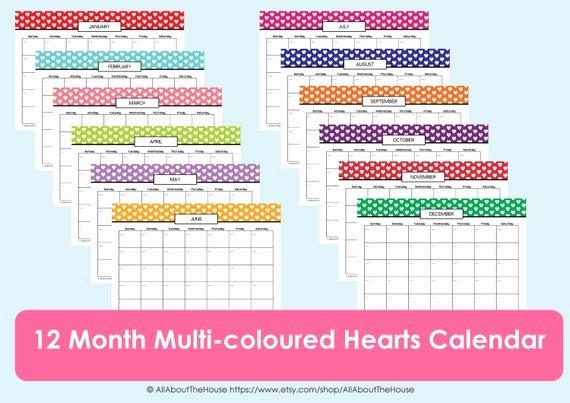 Free Printable Perpetual Calendar Awesome Items Similar to Printable Calendar Perpetual Calendar