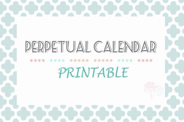 Free Printable Perpetual Calendar Beautiful Perpetual Calendar Printable