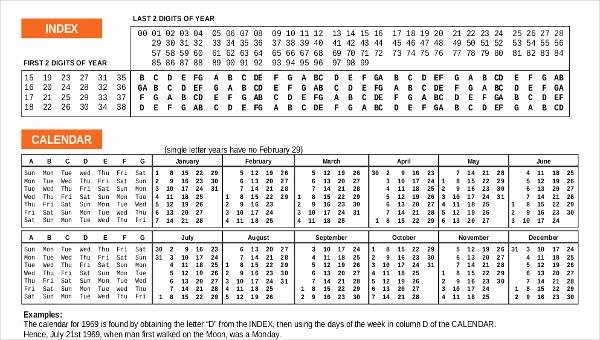 Free Printable Perpetual Calendar Elegant 8 Perpetual Calendar Templates – Free Downloadable