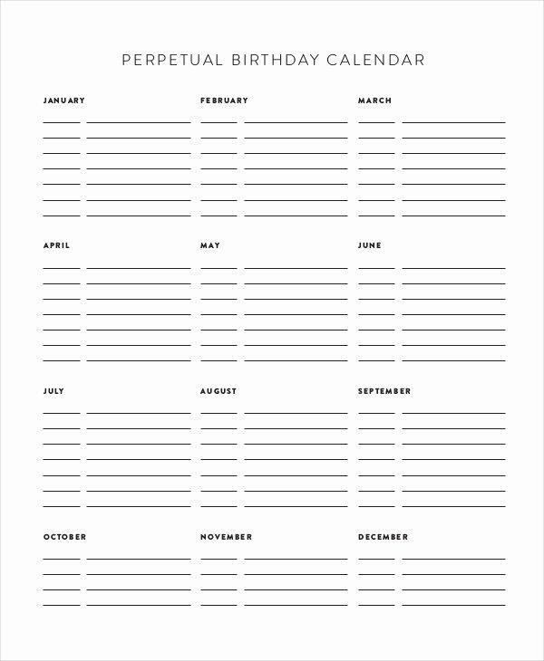 Free Printable Perpetual Calendar Luxury Perpetual Calendar 11 Free Pdf Psd Documents Download