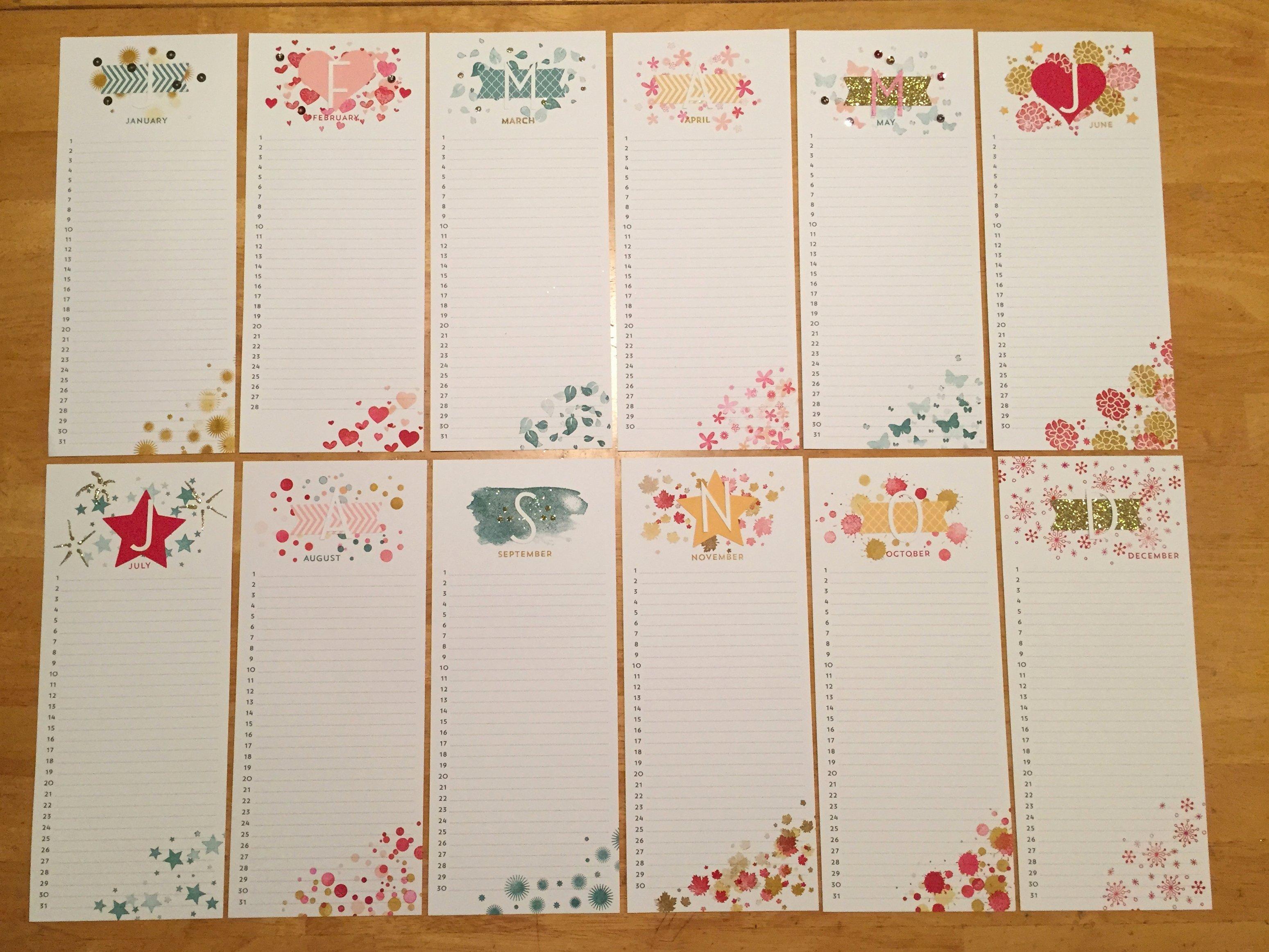 Free Printable Perpetual Calendar New Perpetual Birthday Calendar Project Kit – Finders Keepers