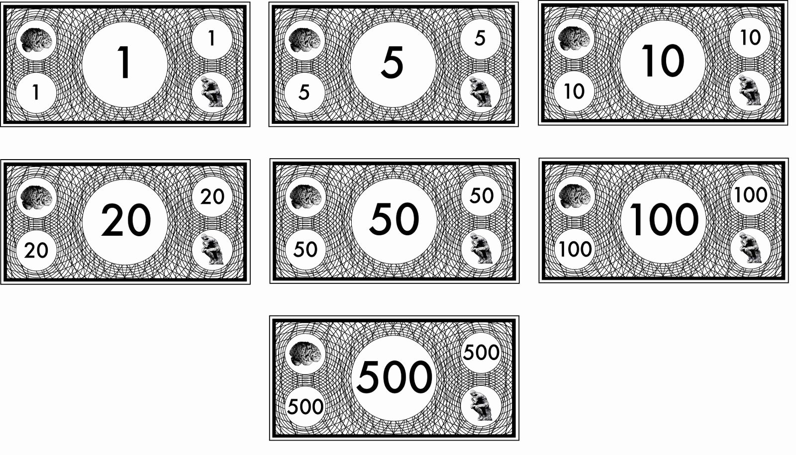 Free Printable Play Money Beautiful Free Printable Monopoly Money Black and White