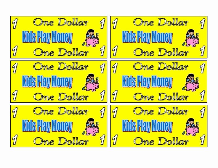 Free Printable Play Money Inspirational 21 Best Play Money Incentives Images On Pinterest