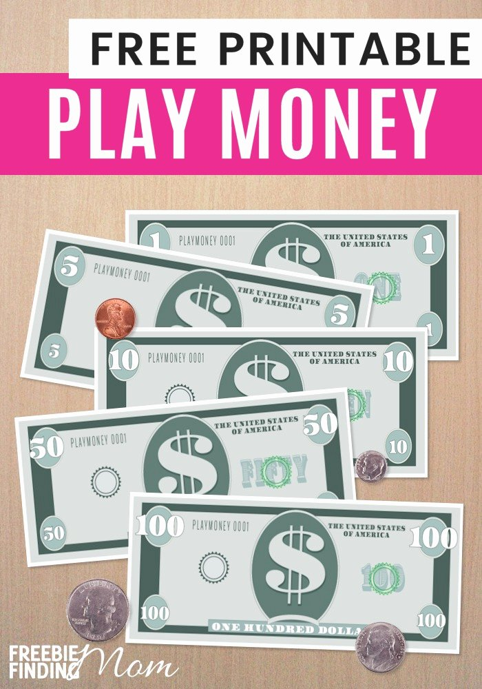 Free Printable Play Money Lovely Printable Play Money Printable Pages