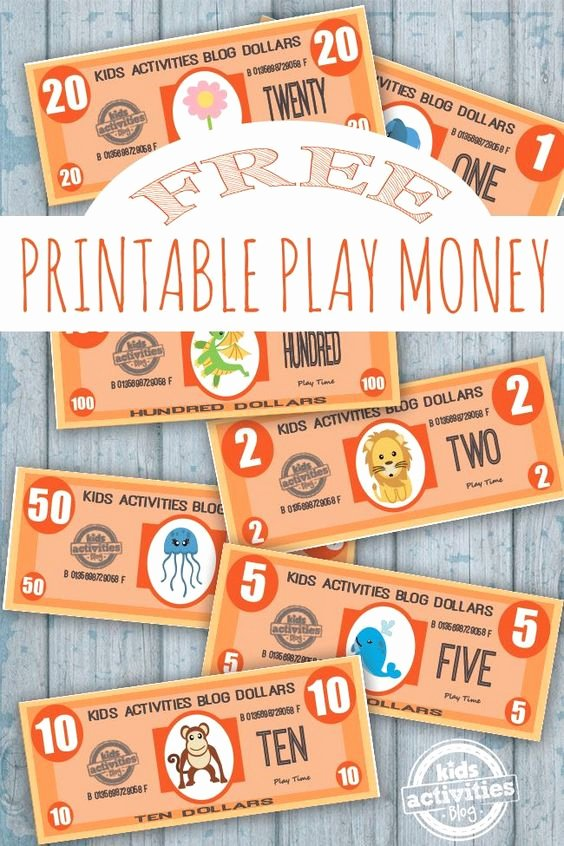 Free Printable Play Money Luxury Play Money Free Kids Printable