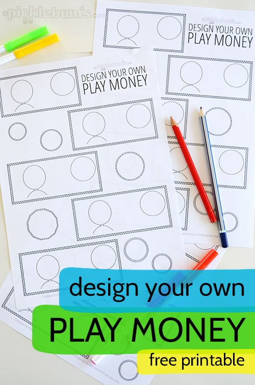 Free Printable Play Money New Design Your Own Printable Play Money Picklebums