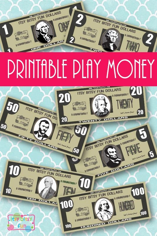 Free Printable Play Money New Free Realisitc Printable Play Money