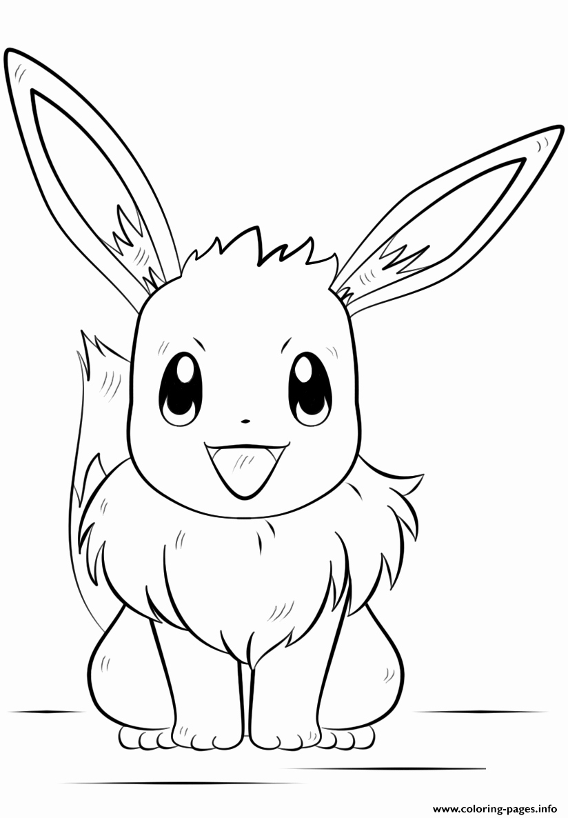 Free Printable Pokemon Pictures New Eevee Pokemon Coloring Pages Printable