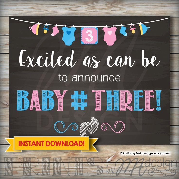 Free Printable Pregnancy Announcements Beautiful Best 25 Baby 3 Announcement Ideas On Pinterest