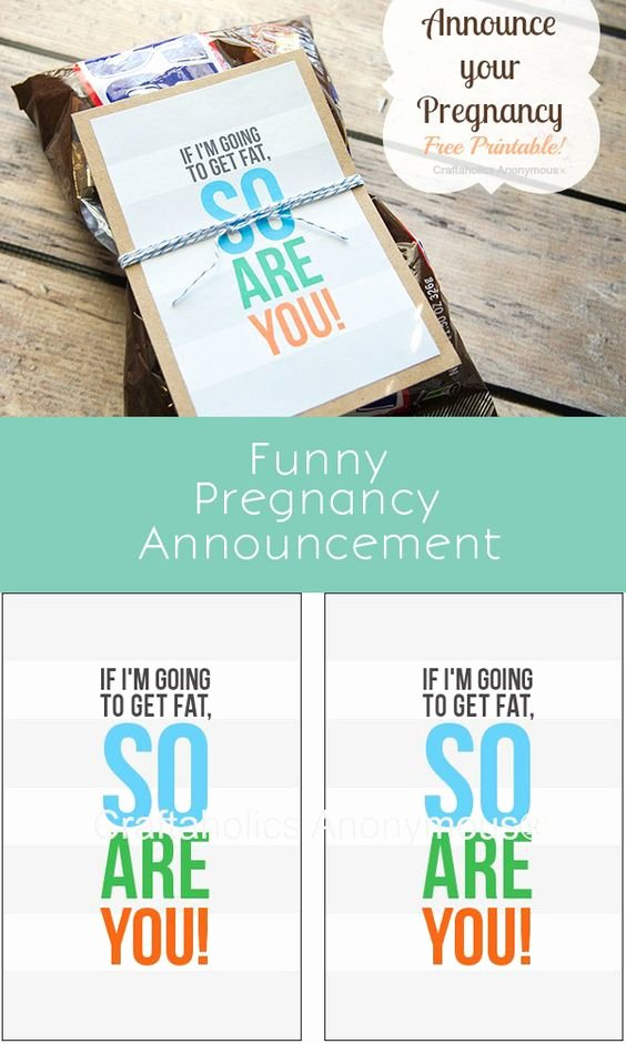 Free Printable Pregnancy Announcements Elegant Ovens Buns and the O Jays On Pinterest