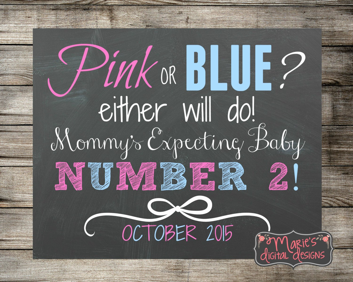 Free Printable Pregnancy Announcements Elegant Printable Pregnancy Announcement Pink or Blue Prop