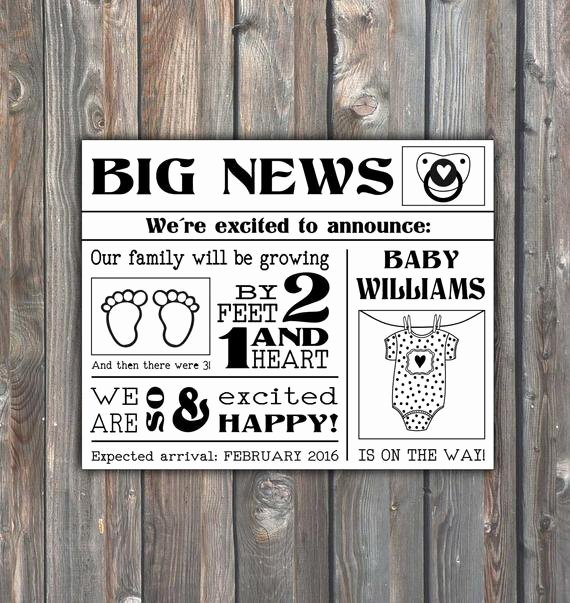 Free Printable Pregnancy Announcements Elegant Printable Pregnancy Announcement Pregnancy by