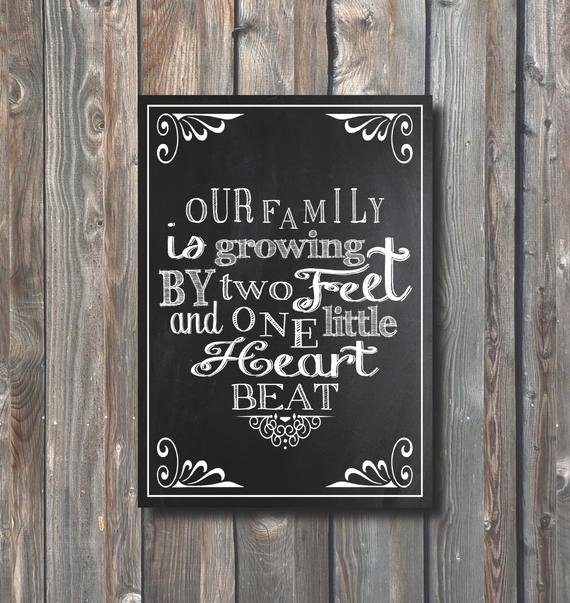 Free Printable Pregnancy Announcements Elegant Printable Pregnancy Announcement Pregnancy Chalkboard