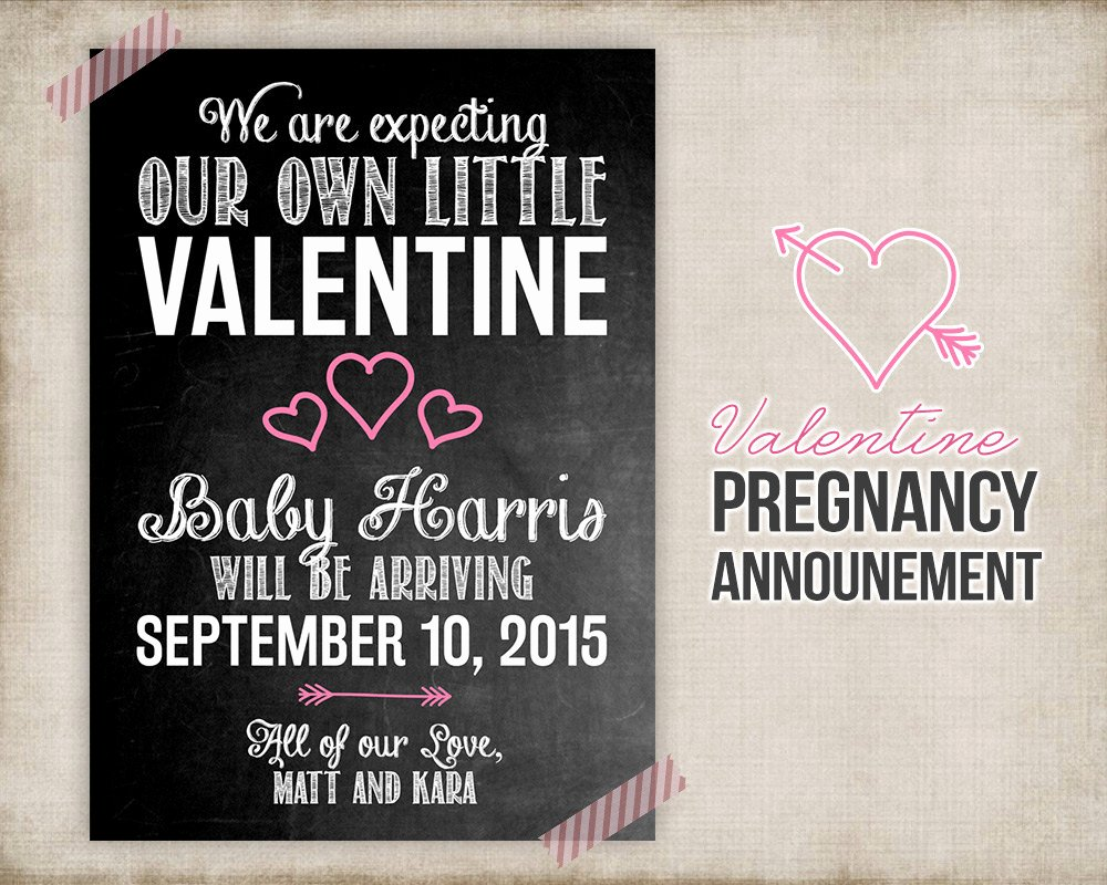 Free Printable Pregnancy Announcements Inspirational Valentine Pregnancy Announcement Printable Card Sign