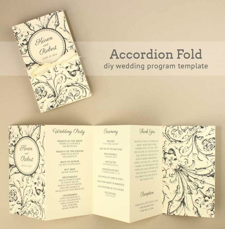 Free Printable Program Templates Beautiful Diy Tutorial Free Printable Folded Wedding Program Boho