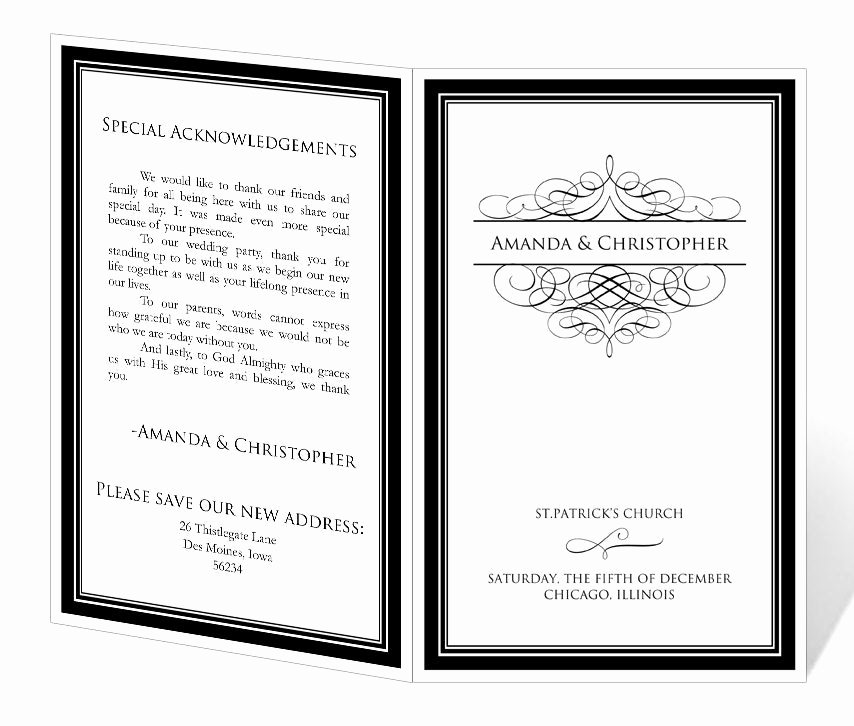 Free Printable Program Templates Beautiful Wedding Program Template Printable Instant Download