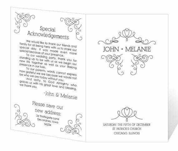 Free Printable Program Templates Beautiful Wedding Program Template Word