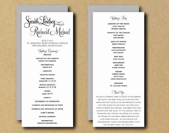 Free Printable Program Templates Inspirational Sale Printable Wedding Program Template Whimsical