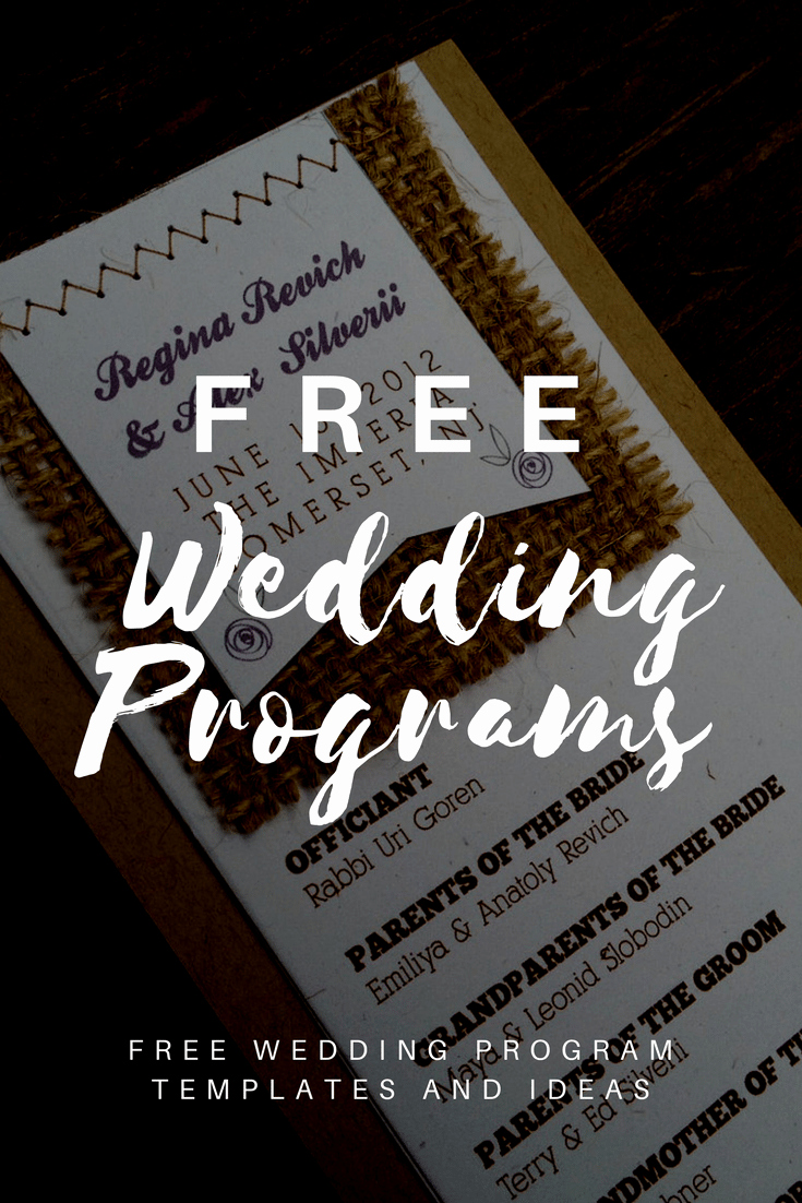 Free Printable Program Templates Lovely Free Wedding Program Templates