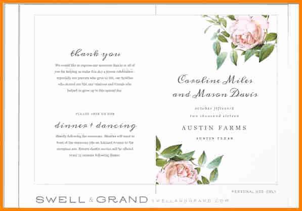 Free Printable Program Templates New 8 Free Printable Wedding Program Templates Word