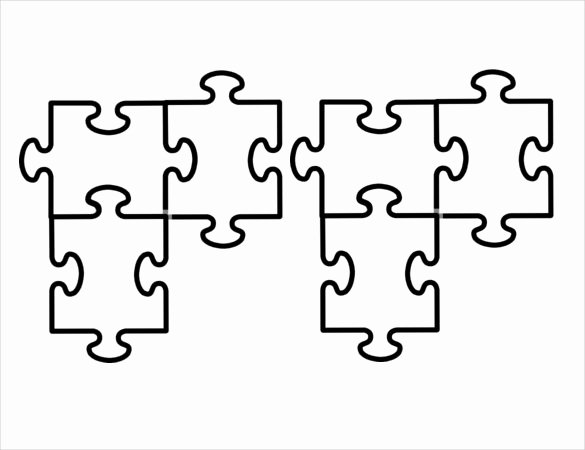 Free Printable Puzzle Pieces Template Elegant 5 Piece Puzzle