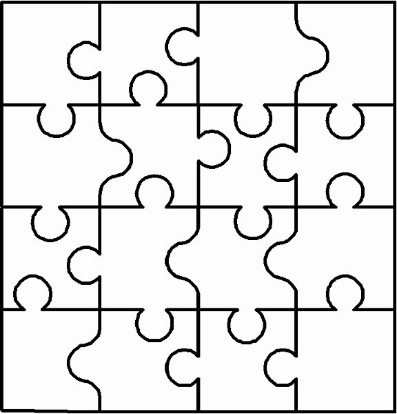 Free Printable Puzzle Pieces Template Fresh Autism Puzzle Piece Cut Out Clipart Best