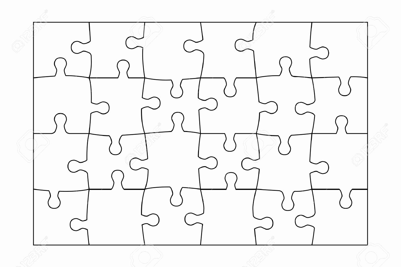 Free Printable Puzzle Pieces Template Inspirational Jigsaw Puzzle Template