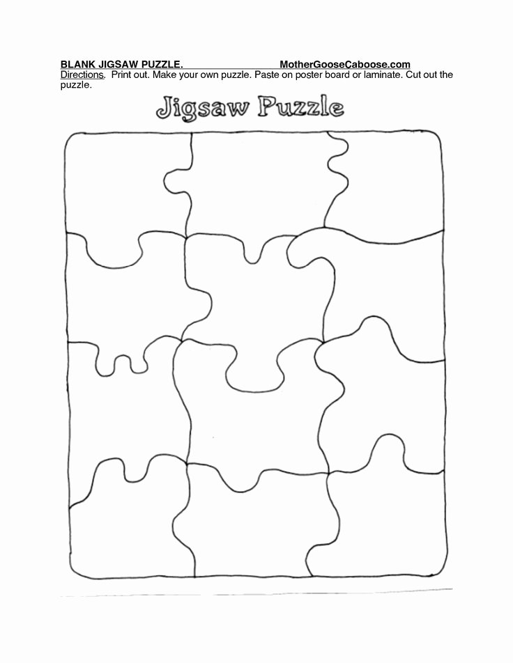 Free Printable Puzzle Pieces Template Lovely Best 25 Puzzle Piece Template Ideas On Pinterest
