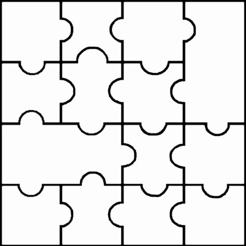 Free Printable Puzzle Pieces Template Lovely Blank Jigsaw Templates Clipart Best