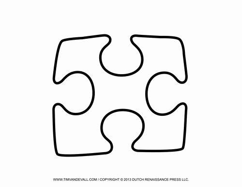 Free Printable Puzzle Pieces Template Lovely Single Puzzle Piece Template