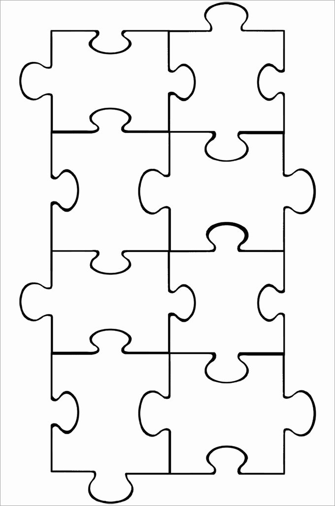 Free Printable Puzzle Pieces Template New Puzzle Piece Template Puzzle Pieces Pinterest