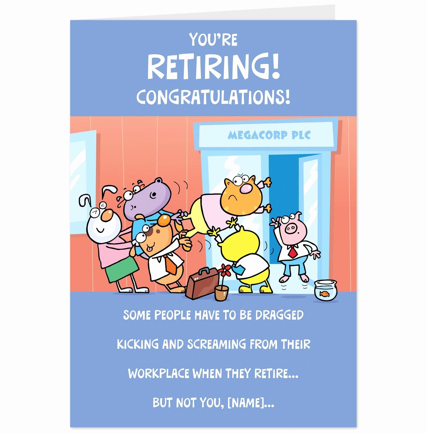 Free Printable Retirement Cards Beautiful Shop