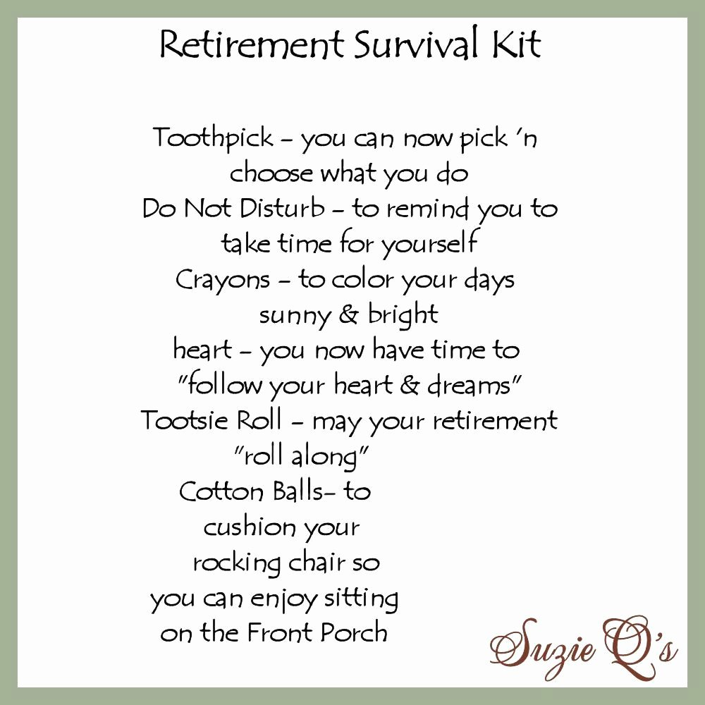 Free Printable Retirement Cards Elegant Retirement Survival Kit Includes topper and Card Digital