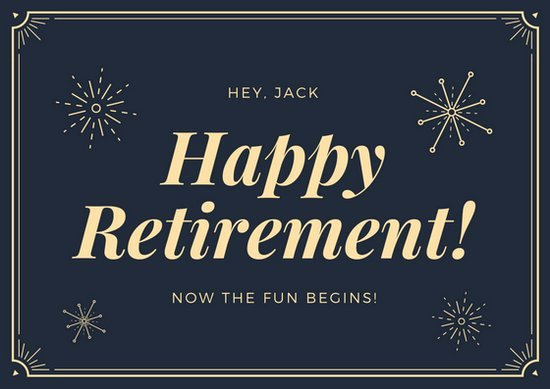 Free Printable Retirement Cards New Customize 43 Retirement Card Templates Online Canva