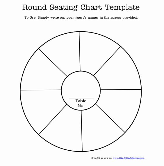 Free Printable Seating Chart Best Of Free Printable Round Seating Chart Template for