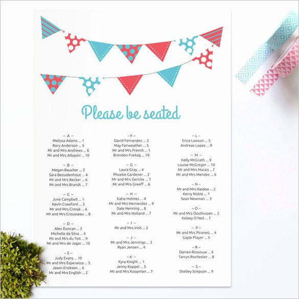 Free Printable Seating Chart Best Of Wedding Seating Chart Template