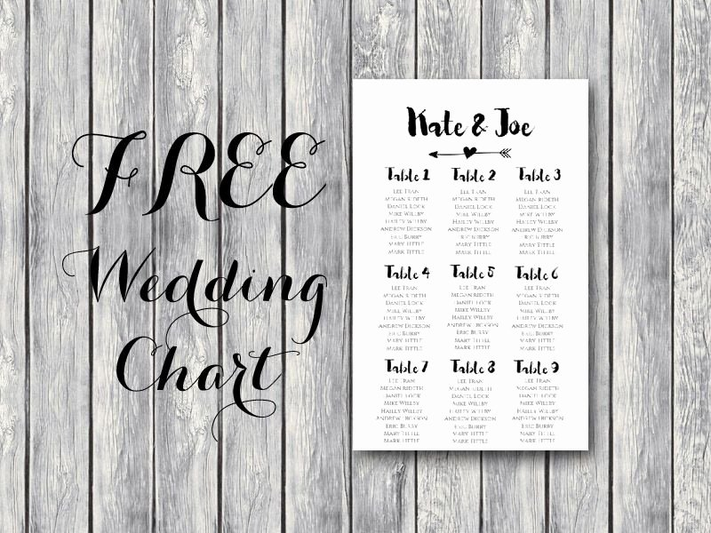 Free Printable Seating Chart Unique Free Wedding Seating Chart Printable Template Editable