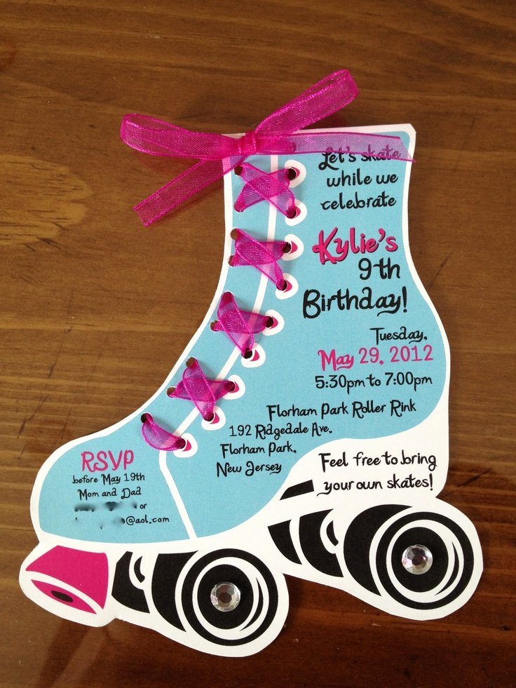 Free Printable Skating Party Invitations Awesome Roller Skate Birthday Invites by Lilli Design L L C New