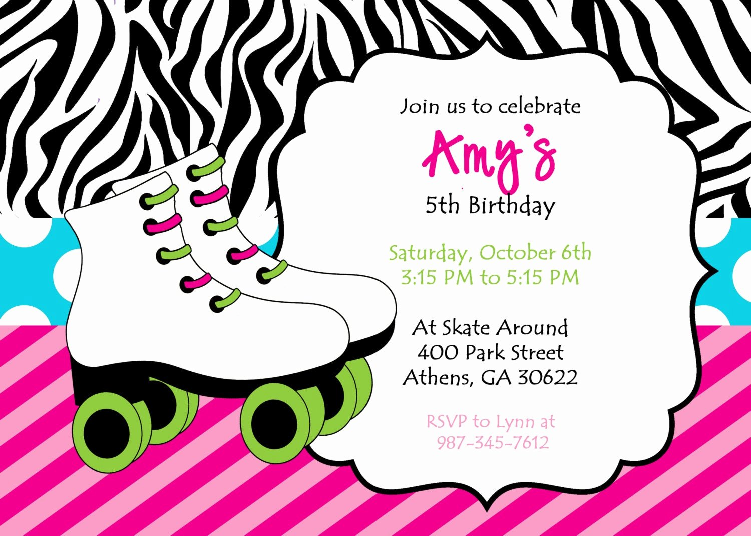 Free Printable Skating Party Invitations Fresh Diy Printable Skating Party Invitation Zebra Print Skate