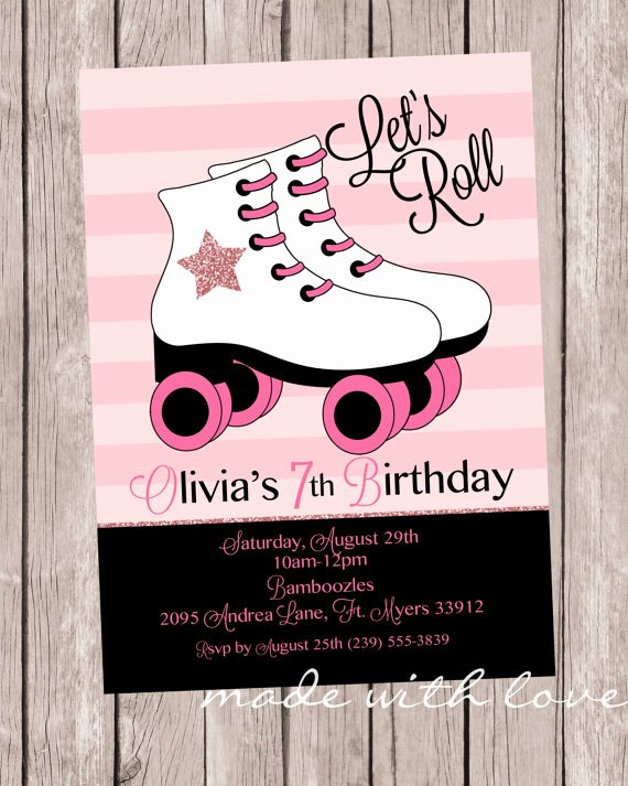 Free Printable Skating Party Invitations Fresh Skate with Me A Roller Skating Birthday Invitation