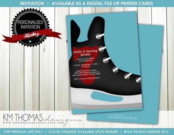 Free Printable Skating Party Invitations Inspirational Hockey Birthday Invitation Boys Ice Skating Birthday