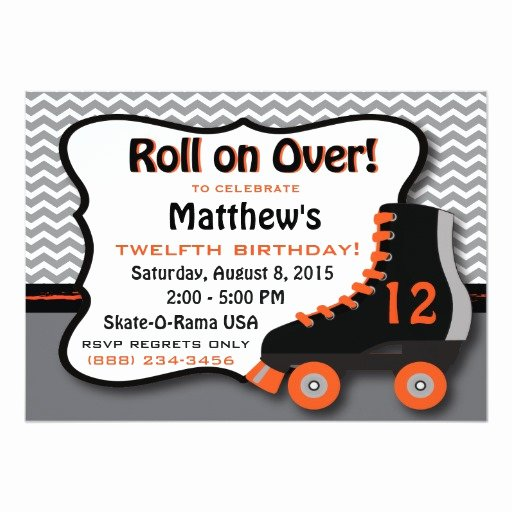 Free Printable Skating Party Invitations Lovely Roller Skate Birthday Party Invitation