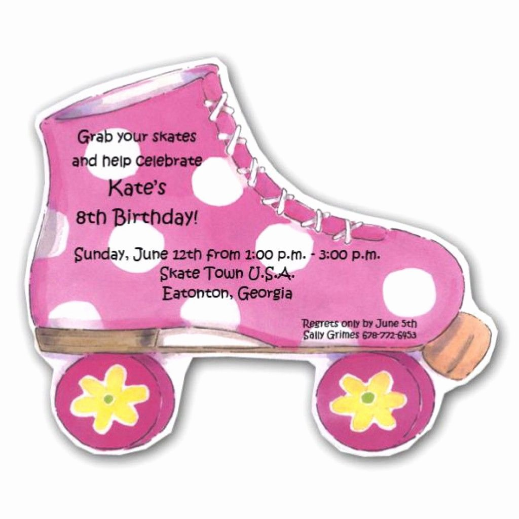 Free Printable Skating Party Invitations Luxury 7 Best Free Printable Roller Skate Template