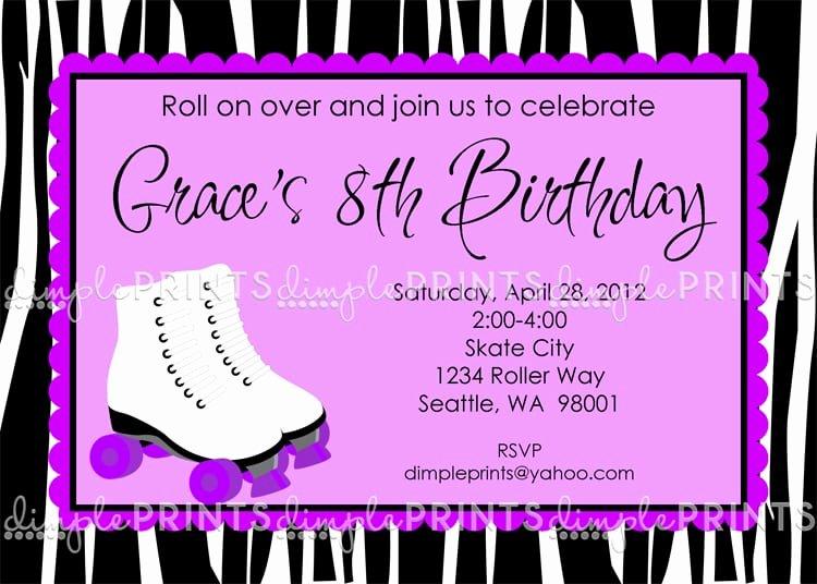 Free Printable Skating Party Invitations Luxury Free Printable Roller Skating Party Invitation