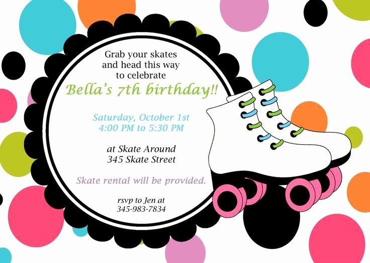 Free Printable Skating Party Invitations Luxury Free Roller Skating Party Invitation Template