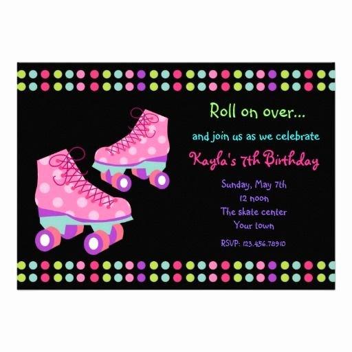 Free Printable Skating Party Invitations New Free Roller Skating Birthday Party Invitations
