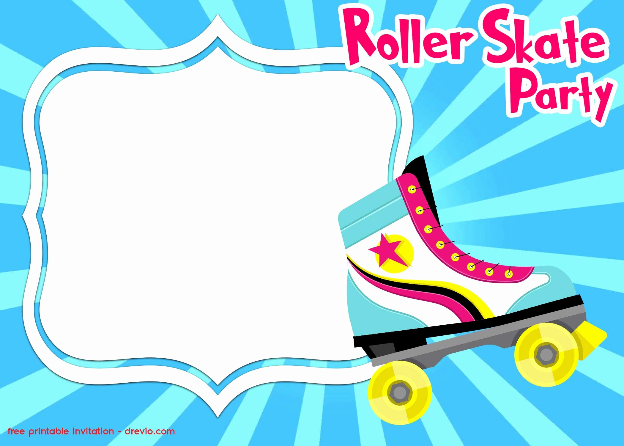 Free Printable Skating Party Invitations Unique Free Roller Skating Invitation Templates – Free Printable